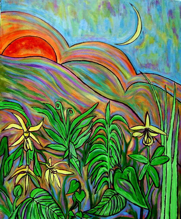 Landscape Surreal Art Print featuring the painting Brother Sun Sister Moon by Patrick Harris