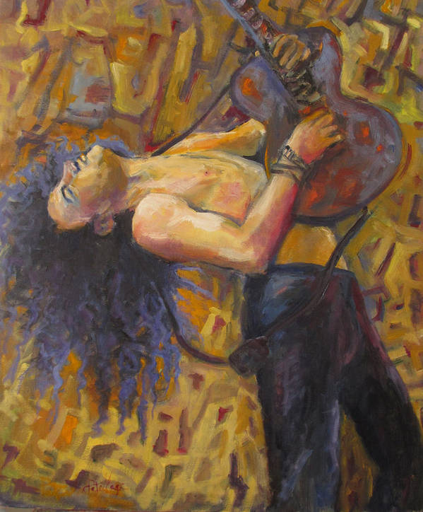 Guitar Player Art Print featuring the painting Heart And Soul by Patricia Maguire