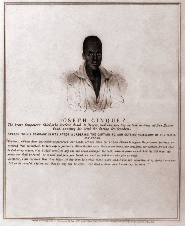 History Art Print featuring the photograph Joseph Cinquez, Lead Fifty-four African by Everett