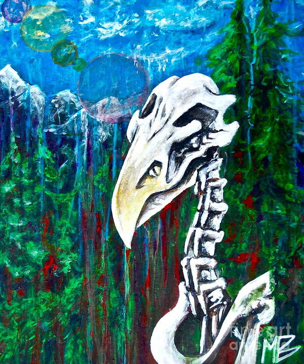 Bald Eagle Art Print featuring the painting Lets Hope Not by Matt Buzan