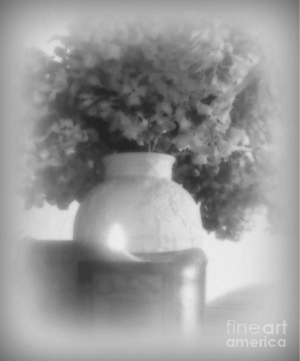 Lilacs Art Print featuring the photograph Lilacs In Candlelight by Diana Besser