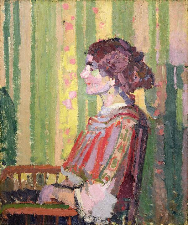 Xyc111981 Art Print featuring the photograph Mrs Robert Bevan by Harold Gilman