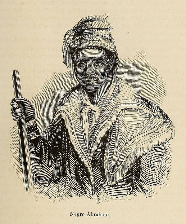 History Art Print featuring the photograph Negro Abraham Was An African Seminole by Everett