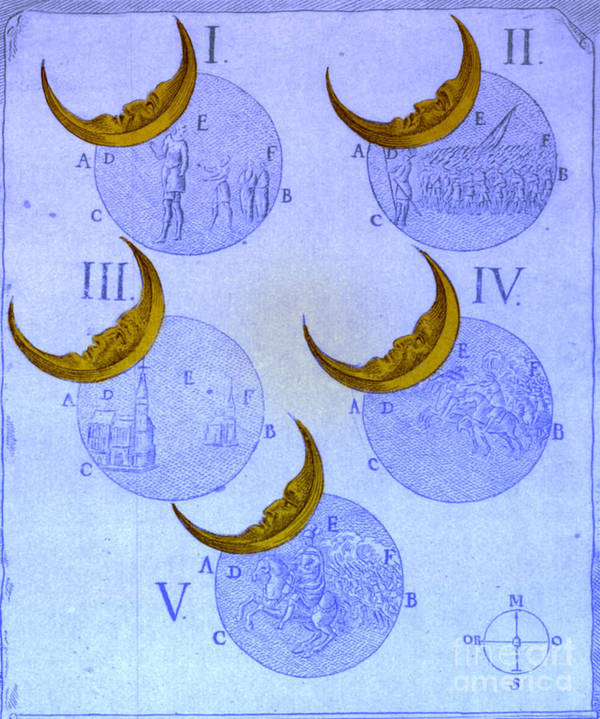 Astrology Art Print featuring the photograph Phases Of An Eclipse by Science Source