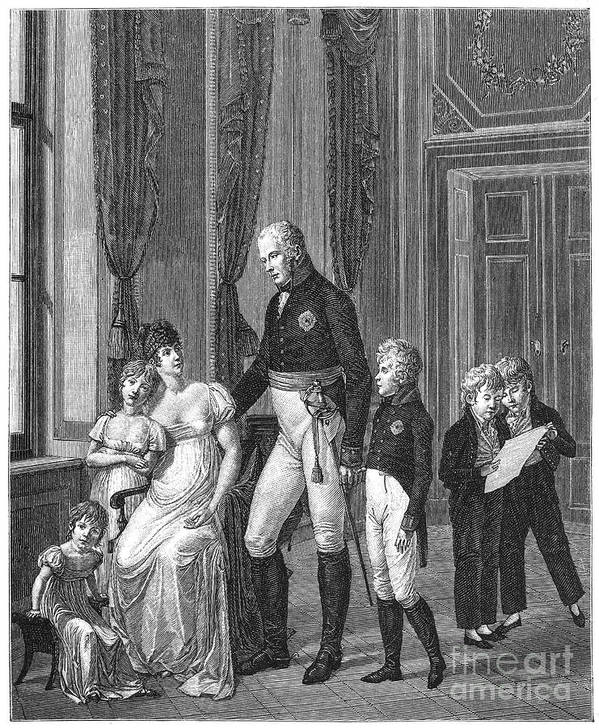 1807 Print featuring the photograph Prussian Royal Family, 1807 by Granger