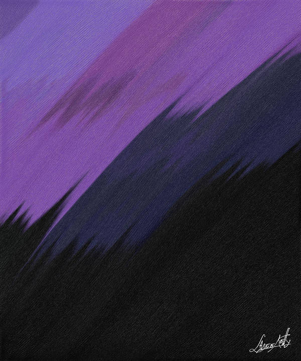 Digital Art Print featuring the painting Purple Sunrise by Lance Kelly
