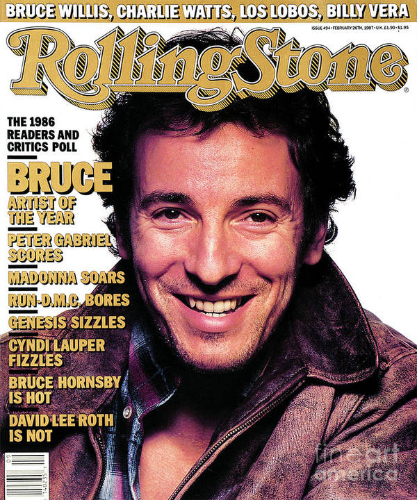 Bruce Springsteen Art Print featuring the photograph Rolling Stone Cover - Volume #494 - 2/26/1987 - Bruce Springsteen by Albert Watson