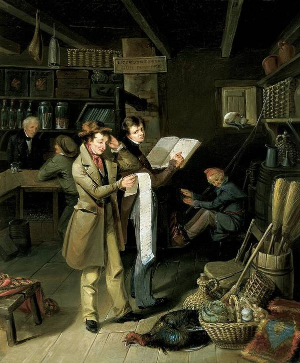 Male Art Print featuring the painting The Long Bill by James Henry Beard