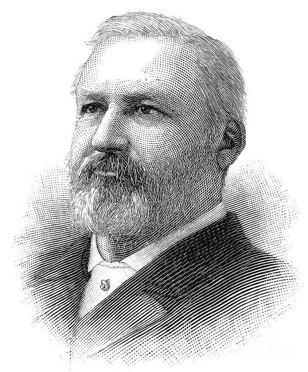 1890 Art Print featuring the photograph William Henry Hatch by Granger
