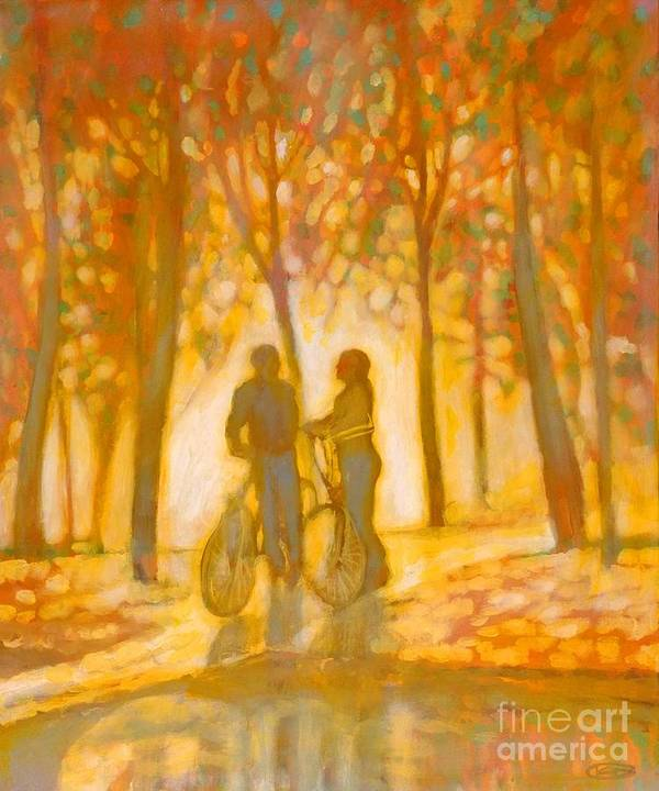 Romance Art Print featuring the painting Chance Encounter by Kip Decker