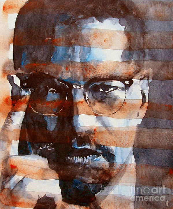 Malcolm X Art Print featuring the painting Malcolmx by Paul Lovering