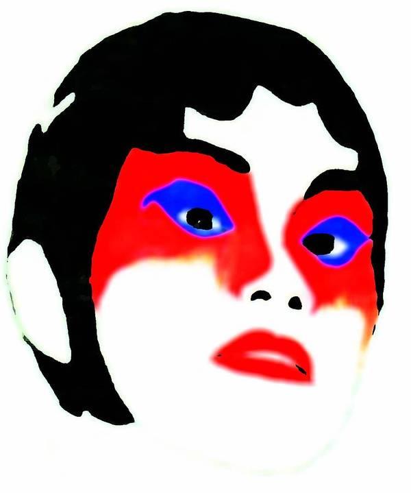 Beauty Art Print featuring the drawing Mask by Jennifer Ott