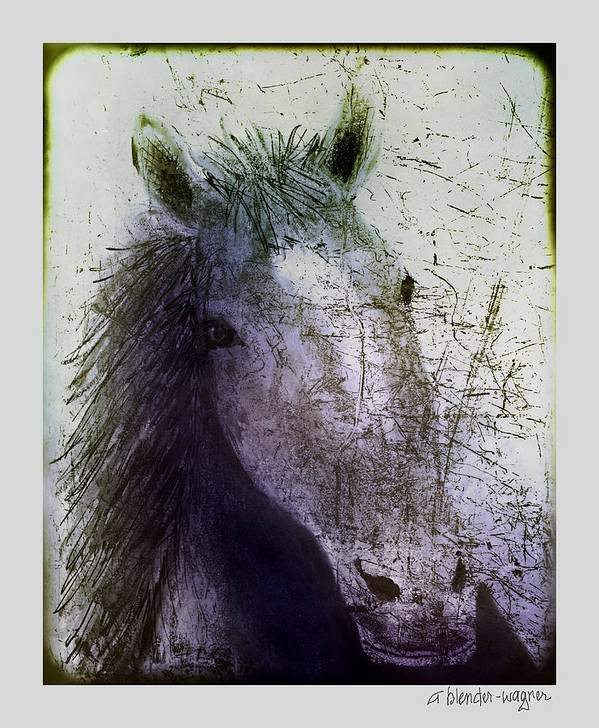 Horse Art Print featuring the digital art Portrait Of A Horse by Arline Wagner
