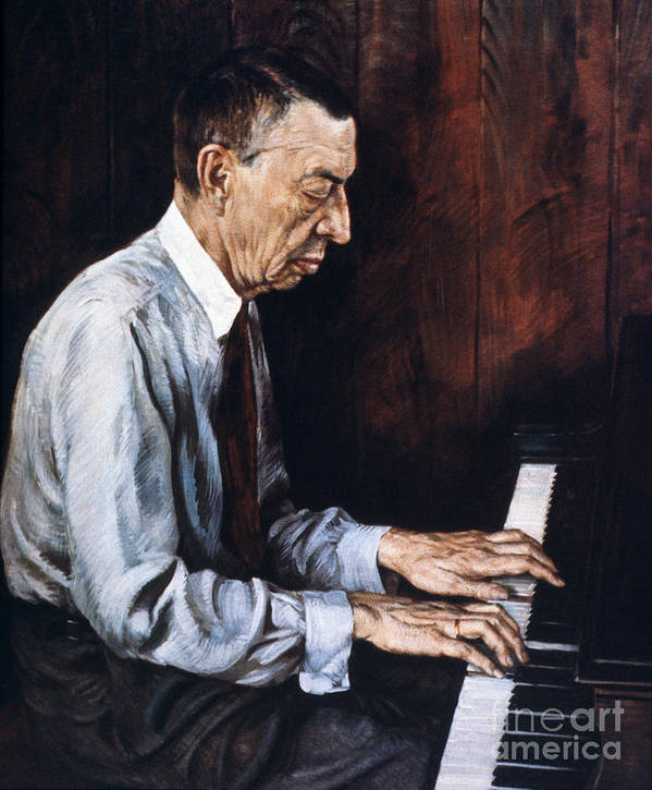 19th Century Art Print featuring the photograph Sergei Rachmaninoff 1 by Granger