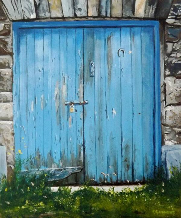 Door Art Print featuring the painting The Blue Door by Tony Gunning