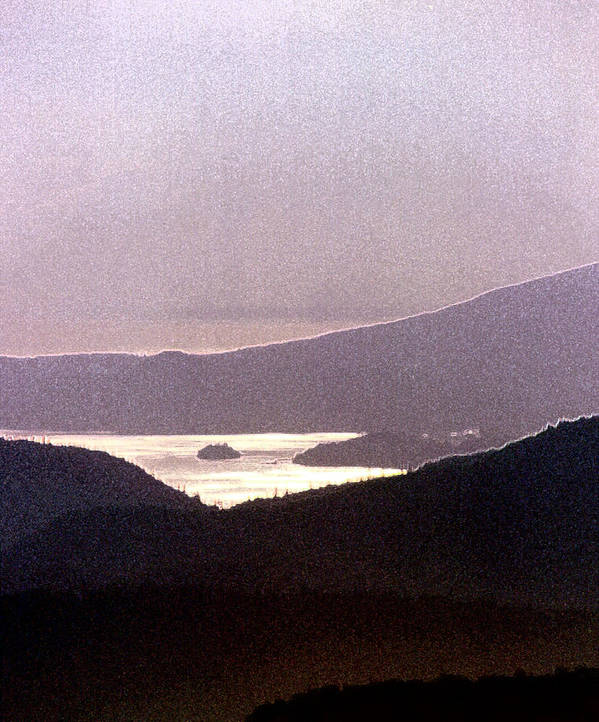 West Coast Art Print featuring the photograph West Coast Mountain Sunset 2 Ae 24 by Lyle Crump