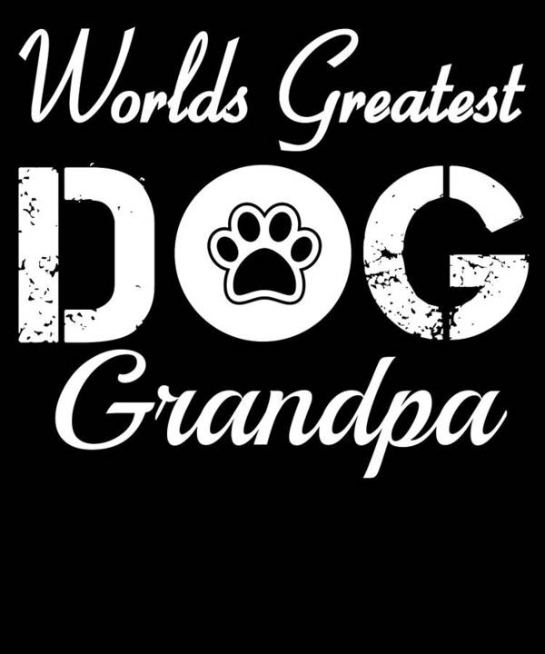 Beagle Art Print featuring the digital art Worlds Greatest Dog Grandpa by Kaylin Watchorn