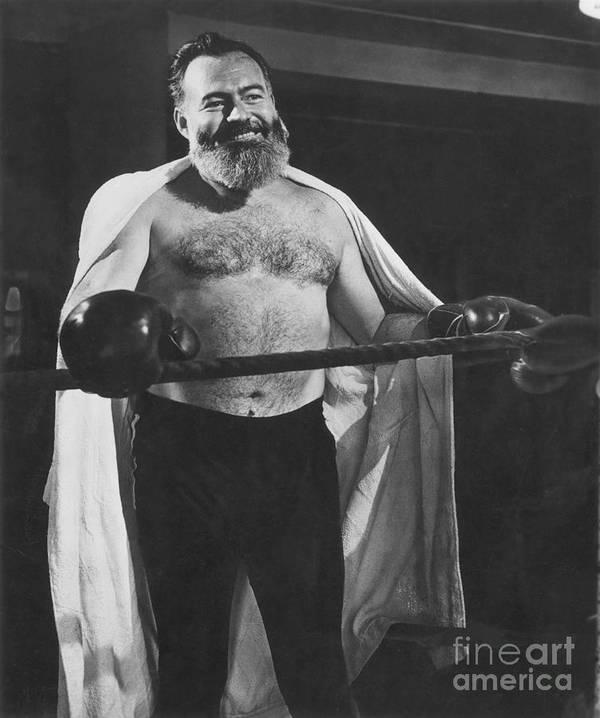 1944 Art Print featuring the photograph Ernest Hemingway by Granger