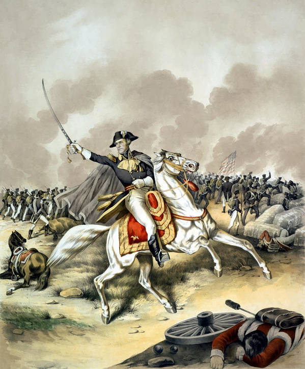 Andrew Jackson Print featuring the painting Andrew Jackson At The Battle Of New Orleans by War Is Hell Store