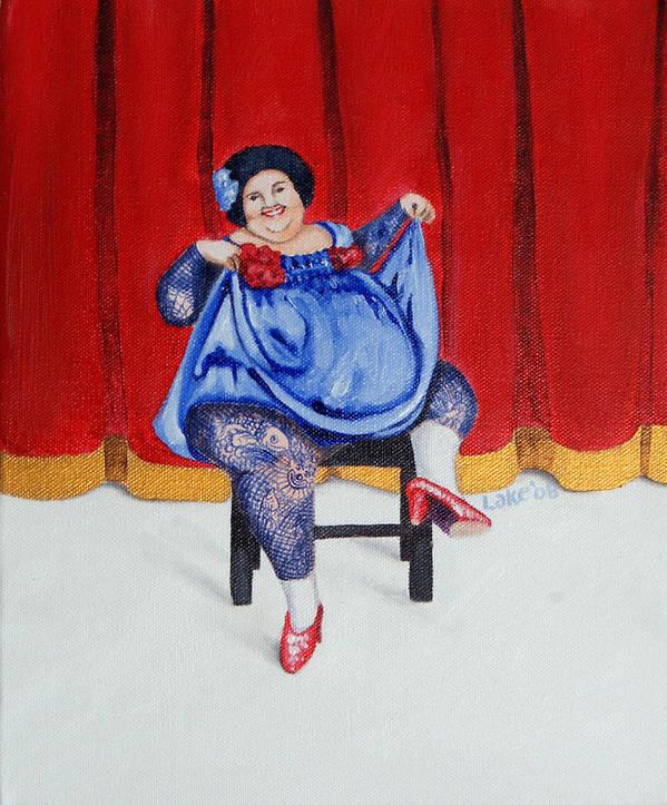Fat Art Print featuring the painting Betty II by Matthew Lake