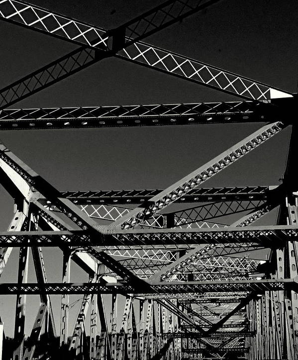 Steel Art Print featuring the photograph Bridge Of Strength by Lisa Jayne Konopka