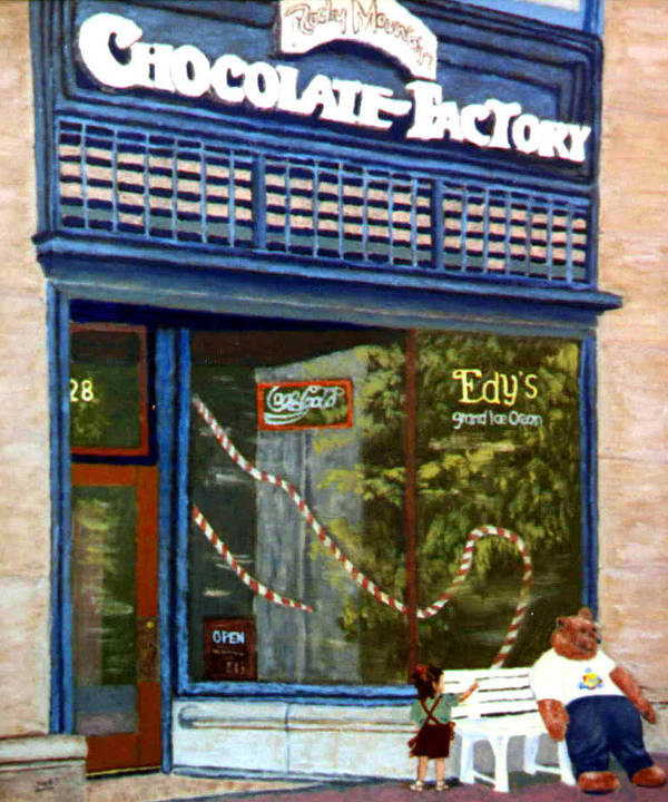 Original Oil On Panel Art Print featuring the painting Chocolate Factory by Stan Hamilton