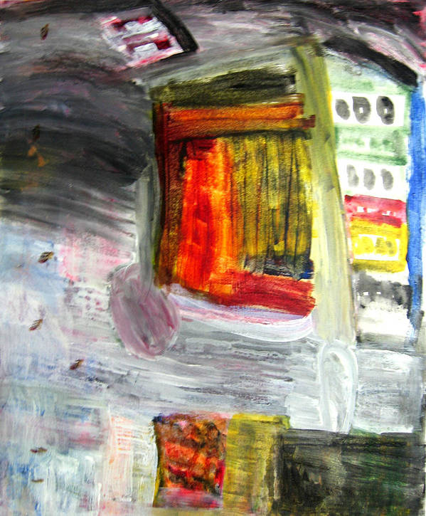 City Art Print featuring the painting City by Todd Dehart