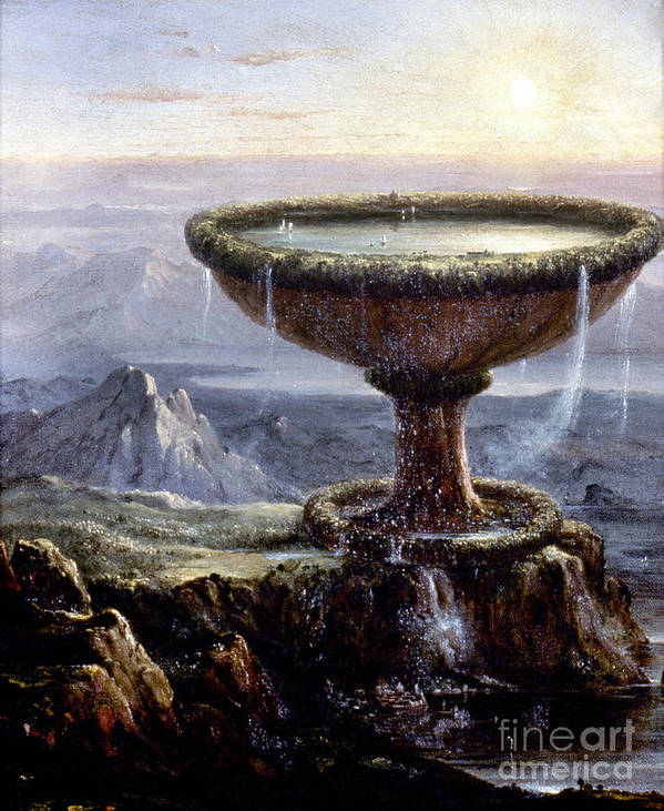 1833 Art Print featuring the painting Cole: Titans Goblet, 1833 by Granger