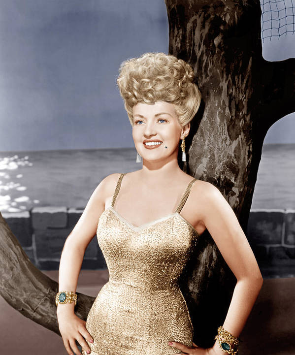 1940s Portraits Art Print featuring the photograph Coney Island, Betty Grable, 1943 by Everett