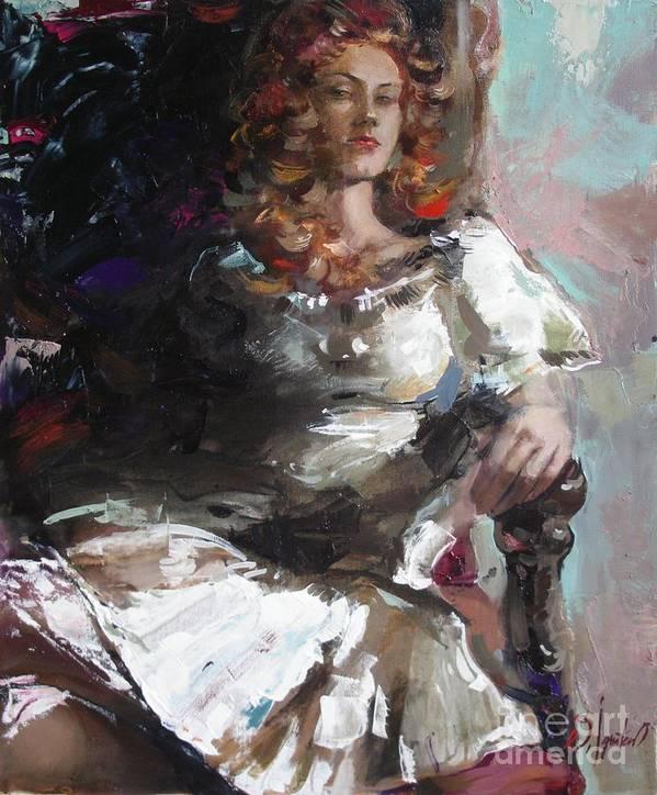 Ignatenko Art Print featuring the painting Countess by Sergey Ignatenko