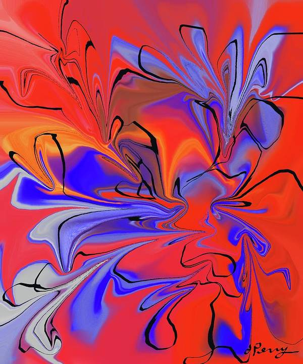 Abstract Art Print Art Print featuring the digital art Daft by D Perry