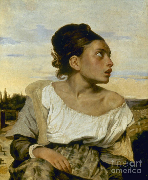 1824 Art Print featuring the photograph Delacroix: Orphan, 1824 by Granger