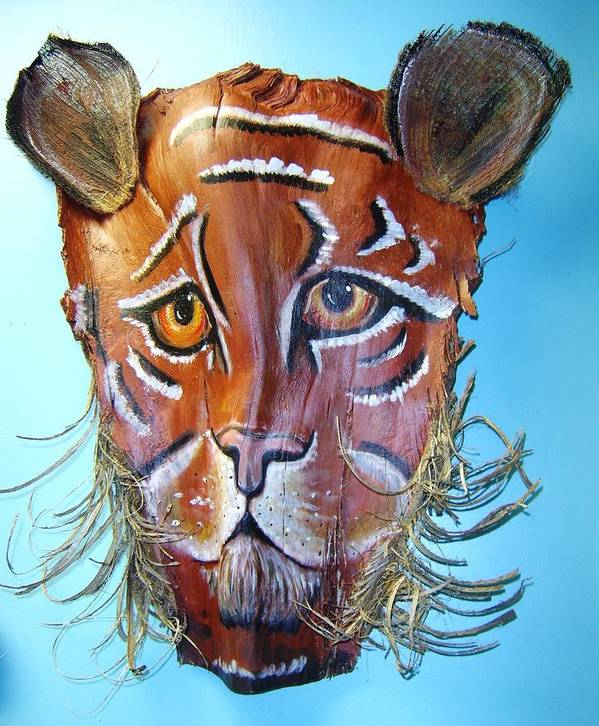 Tiger Art Print featuring the mixed media Eye Of The Tiger by Ellen Burns