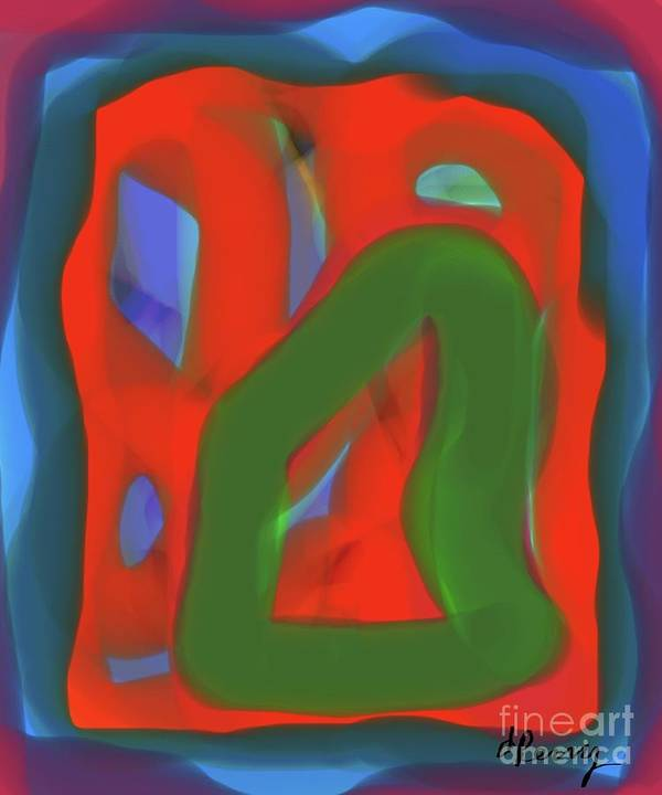 Abstract Art Print Art Print featuring the digital art Fitting In by D Perry