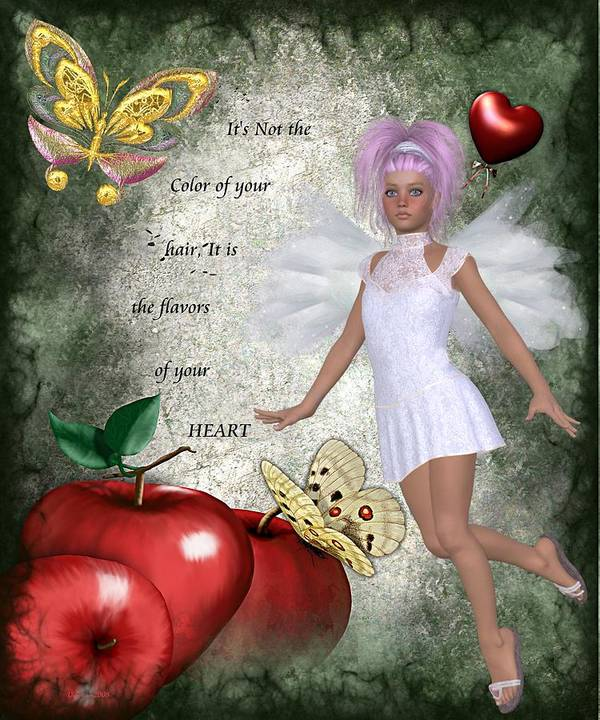 Fairy Art Print featuring the digital art Flavors Of Your Heart by Morning Dew