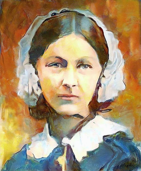 a9222ef5edbf0 Florence Nightingale In Color Art Print by Wayne Pascall