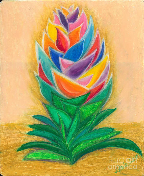Abstract Art Art Print featuring the painting Flowering by Ania M Milo
