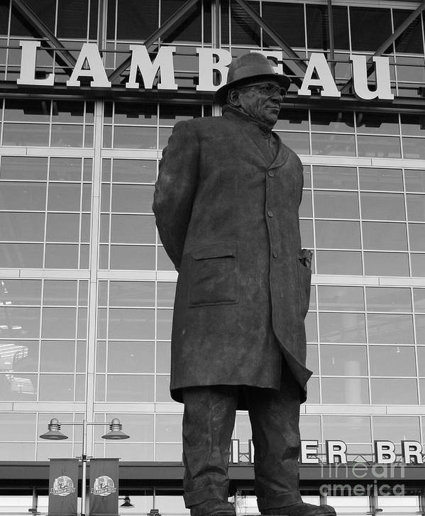 Vince Lombardi Art Print featuring the photograph Ghosts Of Lambeau by Tommy Anderson
