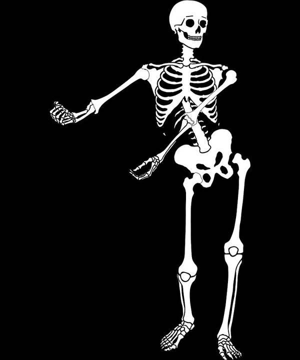 01f39110d90 Halloween Skeleton Floss Dance Kids Sign Youth Dance Art Print by Orange  Pieces