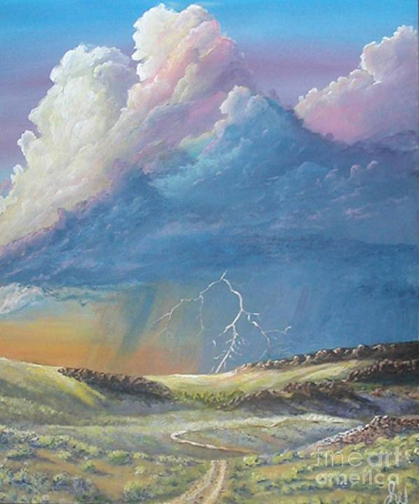 Monsoon Art Print featuring the painting Horsewater by John Wise