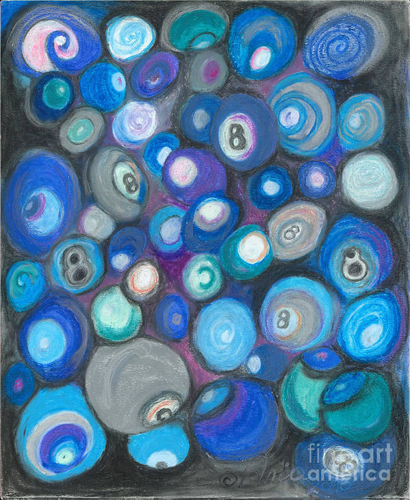 Abstract Art Art Print featuring the painting In Front Of The 8 Ball by Ania M Milo