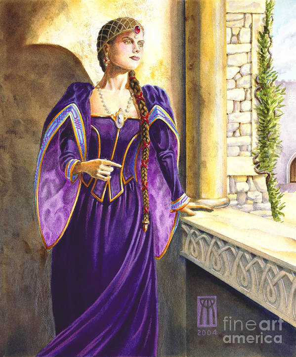 Camelot Art Print featuring the painting Lady Ettard by Melissa A Benson
