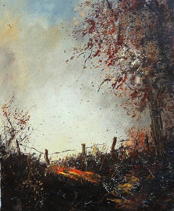 Tree Art Print featuring the painting Light In Autumn by Pol Ledent