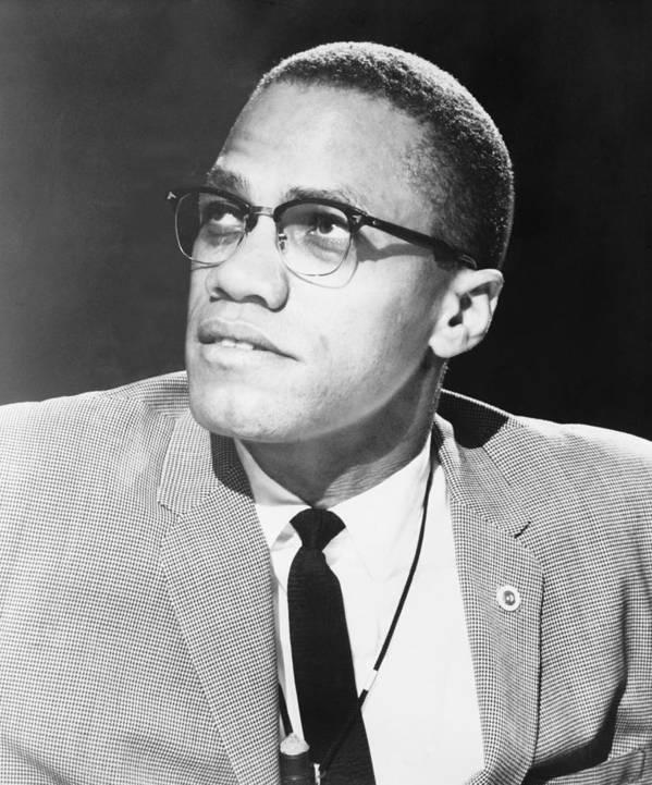 History Art Print featuring the photograph Malcolm X, Militant Black Muslim Civil by Everett