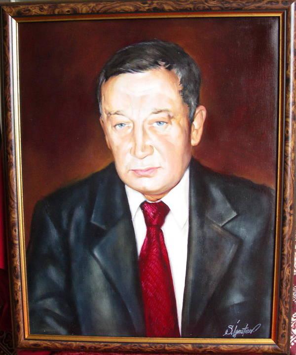 Art Art Print featuring the painting Man 1 by Sergey Ignatenko