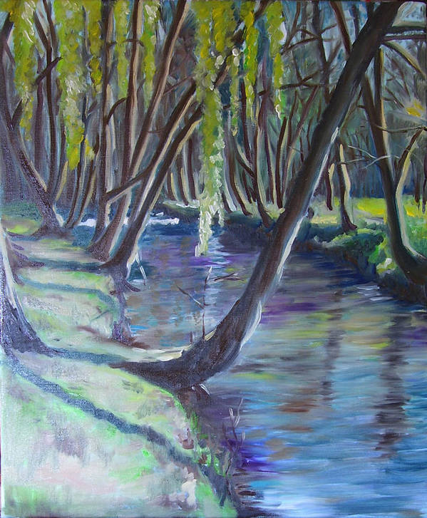 Landscape Art Print featuring the painting Marais Poitevine by Jeni Westcott