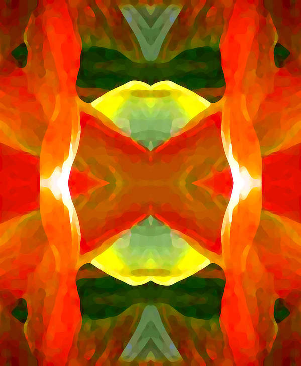 Abstract Print featuring the painting Meditation by Amy Vangsgard