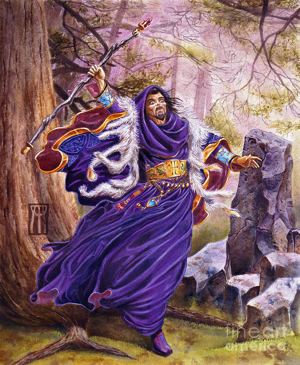 Artwork Art Print featuring the painting Merlin by Melissa A Benson