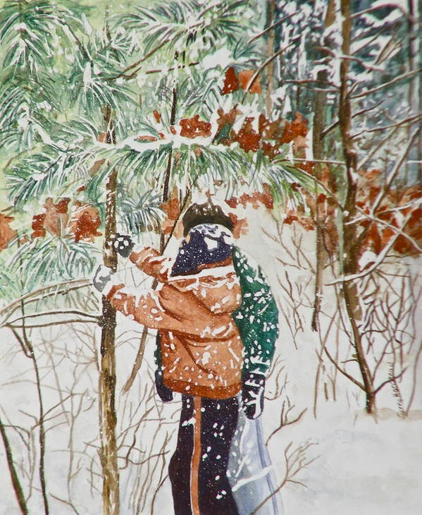 Minnesota Art Print featuring the painting Minnesota Winter by Terry Honstead