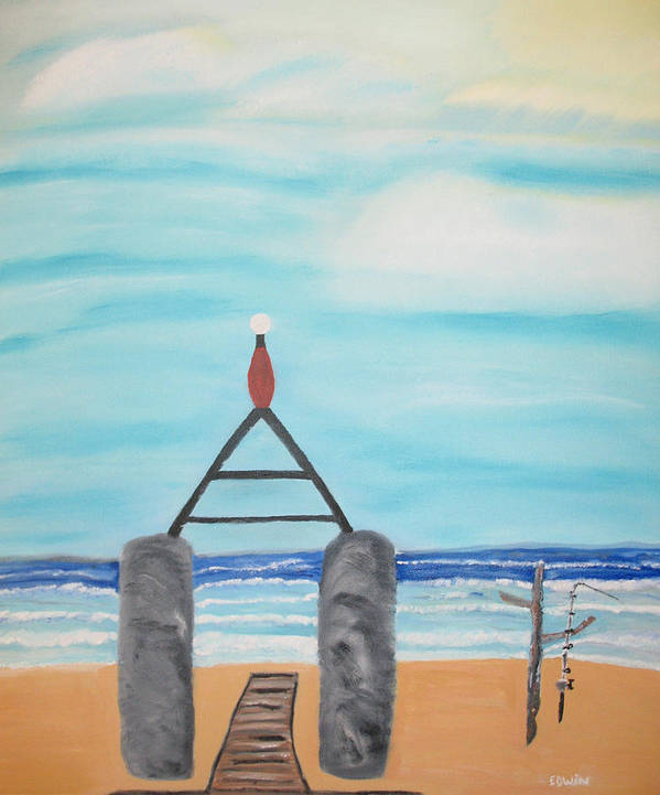 Vacation Art Print featuring the painting My Beach by Edwin Long
